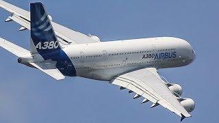 AIRBUS 380 Near VERTICAL DEPARTURE + AIR SHOW - Paris Air Show
