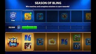 Pool Pass Season of Bling LIVE in 8 Ball Pool