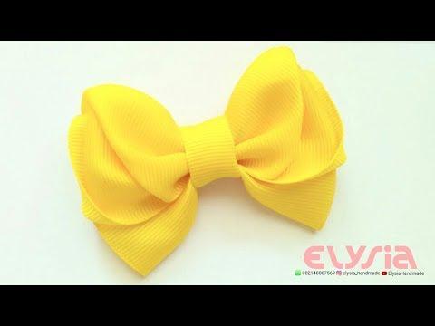 Yellow Cute Ribbon Bow - Hair Bow | DIY by Elysia Handmade