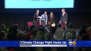 KCAL 9: Rep. Schiff Holds Town Hall on Climate Change