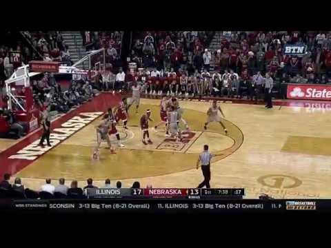 Illinois at Nebraska - Men's Basketball Highlights