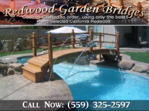 Handcrafted Redwood Garden Bridges For Koi Ponds !   YouTube