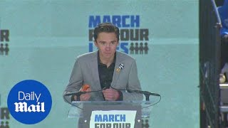 David Hogg gives passionate speech at DC March for Our Lives - Daily Mail