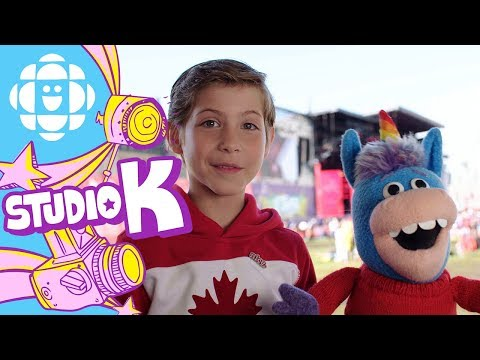 Gary the Unicorn Hugs Jacob Tremblay  CBC Kids