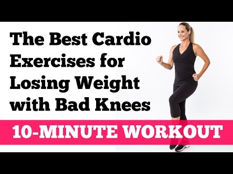 The Best Cardio Exercises for Losing Weight with Bad Knees: Full 10-Minute Home Workout
