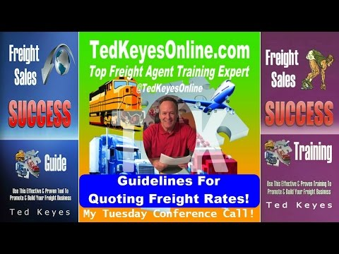 [TKO] ♦ Quoting Freight Rates For The Most Money  ♦ TedKeyesOnline.com