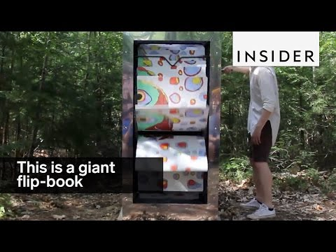 Students built these giant flip-books in the middle of the woods