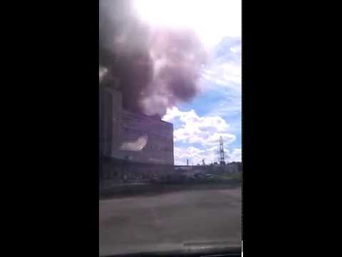 горит автосервис на киевской ул.