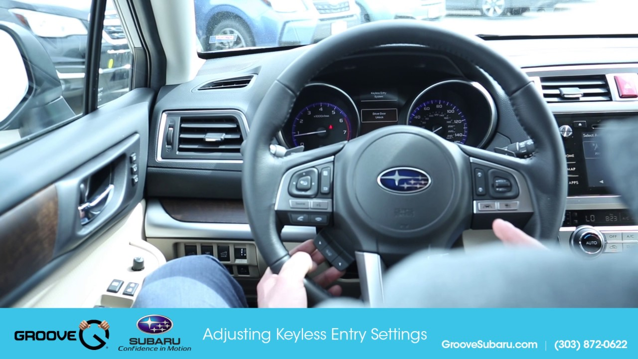 How To Change Key Less Entry Settings On 2017 Subaru Youtube
