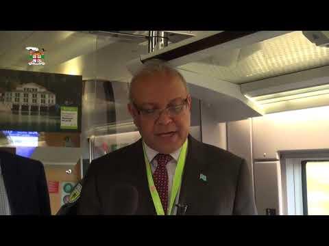 Ambassador Deo Saran, Fiji's Climate Ambassador  to the UNFCCC on board Train to Bonn