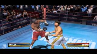 Fight Night Round 3 - Taylor Vs Duran Gameplay (PC with PS2 Emulator)