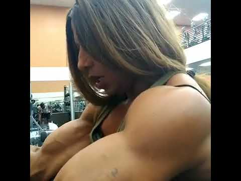 Hot Sexy Female Bodybuilder biceps Veins Girl muscles Abs Strong Asian muscular exercise 27