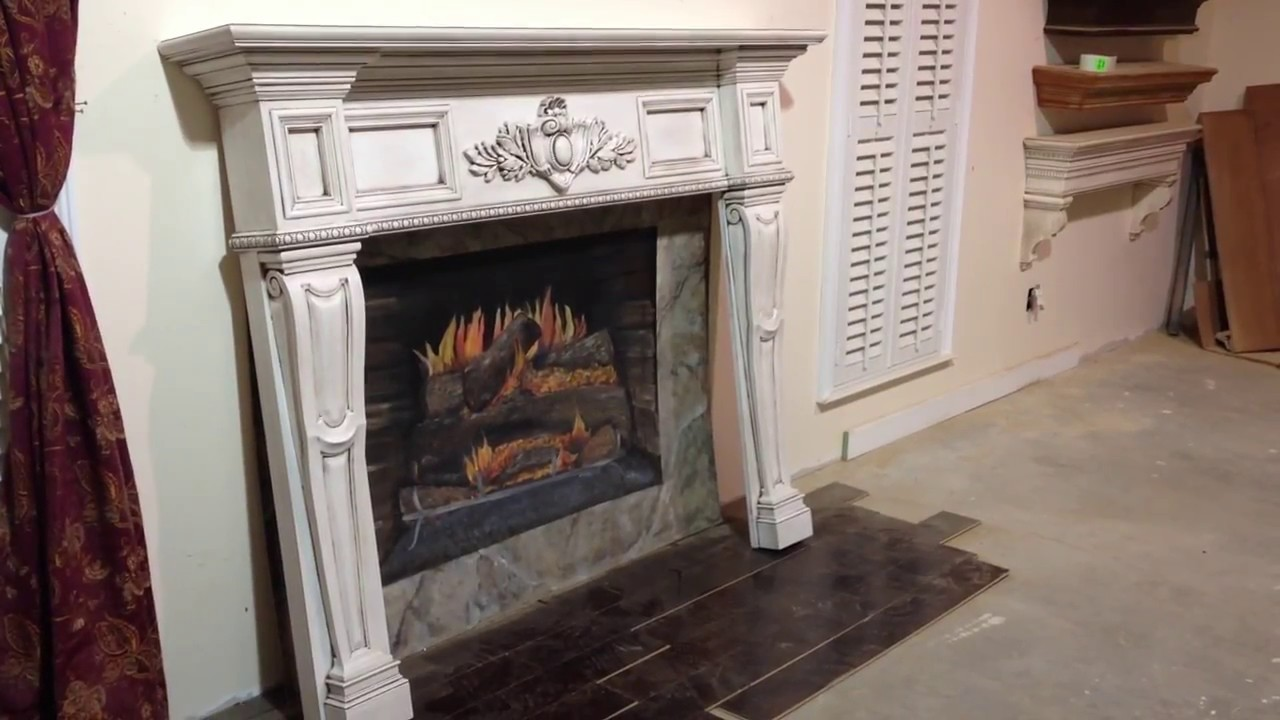 The Boston Mantel Antique Glaze Finish  Antique Fireplace Mantels  YouTube