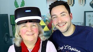Ma Maman joue pour la 1ère fois avec la Réalité Virtuelle !