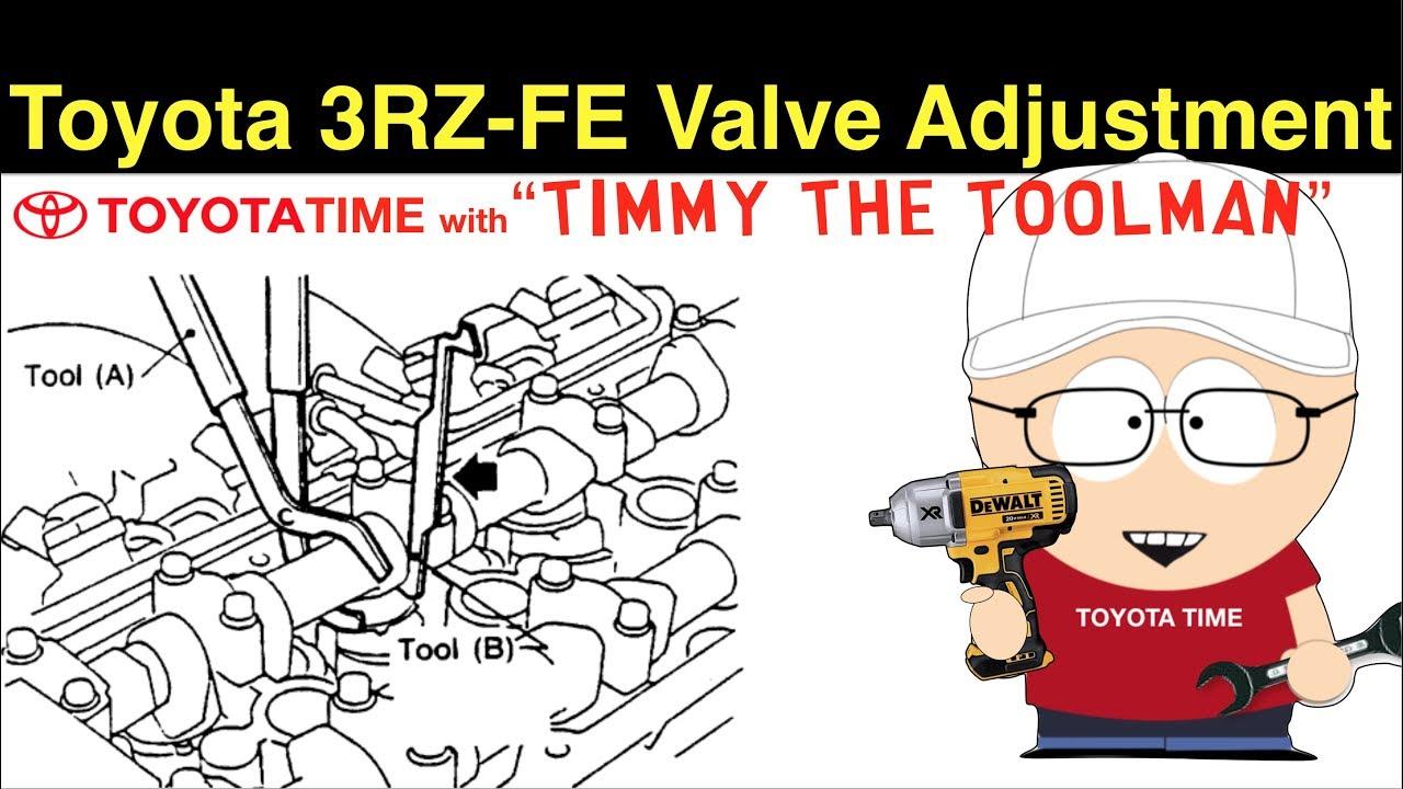 Toyota 3RZ-FE Valve Adjustment