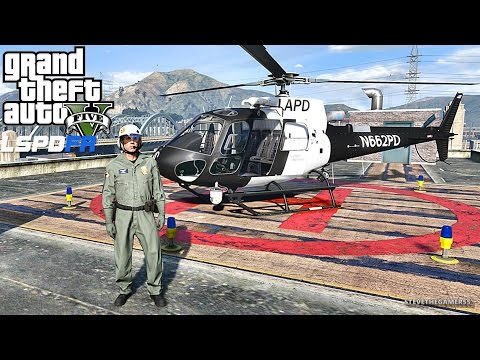 GTA 5 LSPDFR 0.3.1 - EPiSODE 295  - LET'S BE COPS - AIR 1 PATROL (GTA 5 PC POLICE MODS) SHOTS FIRED