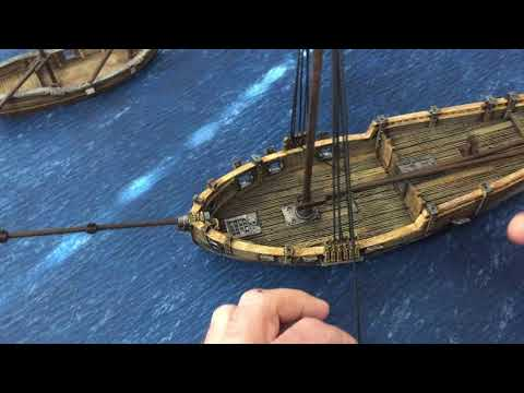 28mm Ship Rigging for 3d Printed Sloop for Wargames and RPG