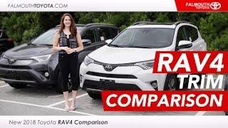 2018 Toyota RAV4 LE, XLE, & Limited Trim Features - Falmouth Toyota - Cape Cod, MA