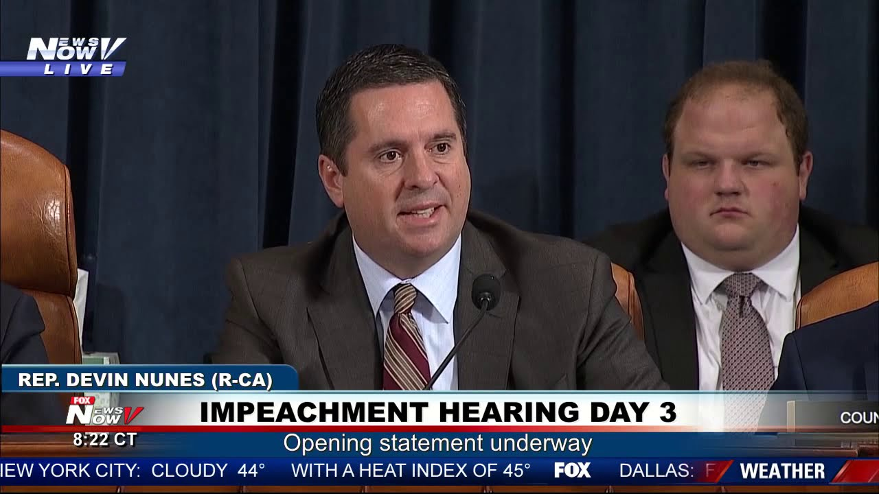 FAKE NEWS: Devin Nunes Takes On Media Portrayal of Impeachment Hearings