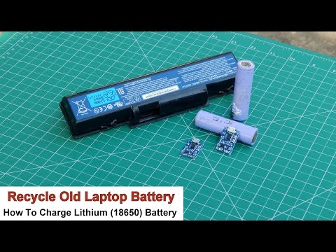 How To Charge Lithium (18650) Battery | Recycle Old Laptop Battery | Get 18650 Battery For Free
