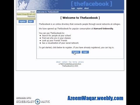 The First Edition of Facebook (2004)