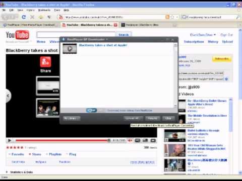 RealPlayer SP Beta With BlackBerry