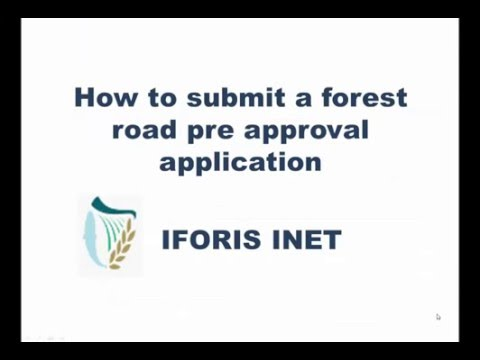 How to submit a Forest Roads Pre Approval Application