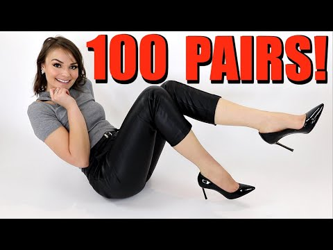 My 100 Pair SHOE COLLECTION || I Try On 100 Pairs Of Shoes!