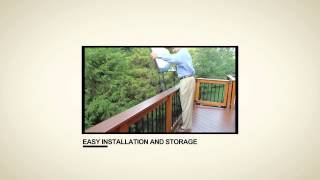 Deckmate Railing Table | Deck And Patio Table
