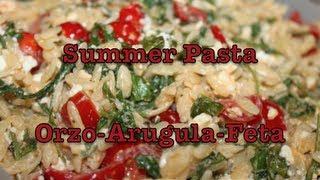 Summer Pasta Recipe: Arugula-orzo-feta