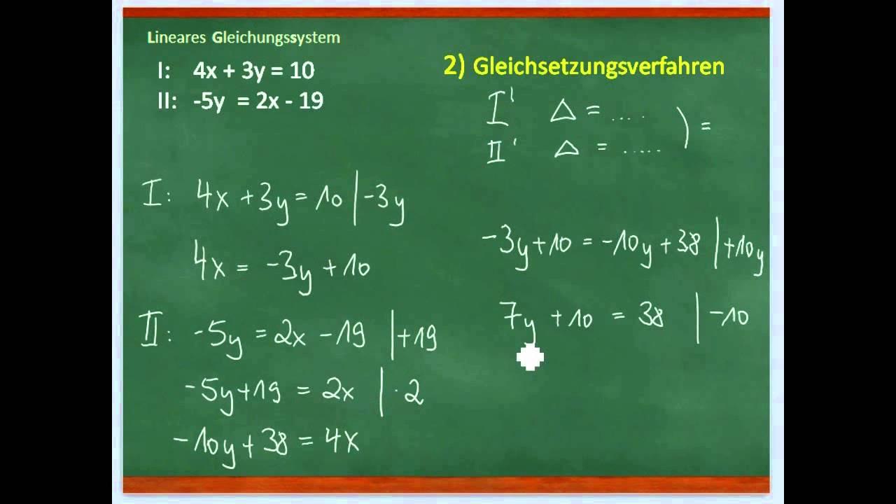 Lineare Gleichungssysteme (LGS) lösen / 9.Klasse - YouTube