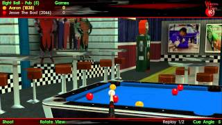 """Virtual Pool 3: Leaving """"Jesse the Bod"""" with 7 reds!"""