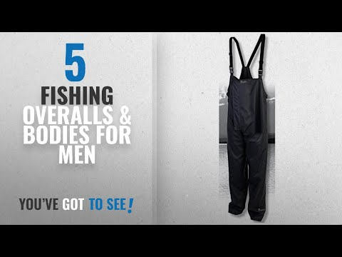 Top 10 Fishing Overalls & Bodies For Men [2018]: IMAX PROTECH BIB & BRACE GREY – LARGE (49455)