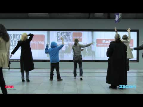 tele.ring: Human Motion Tracking and Gesture Recognition - Interactive Digital Signage