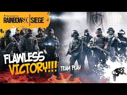 Rainbow Six Siege - FLAWLESS  VICTORY! | Командная игра