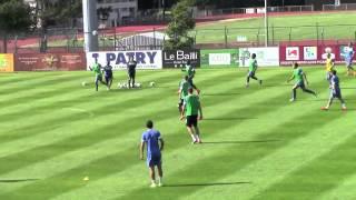 Séance entrainement football - ESTAC - Jeu de conservation avec appuis