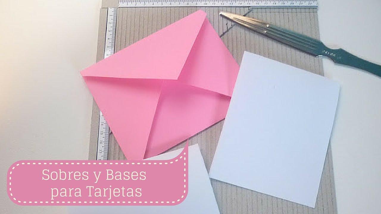 Manualidades c mo hacer sobres y bases para tarjetas - Manualidades para hacer tarjetas ...