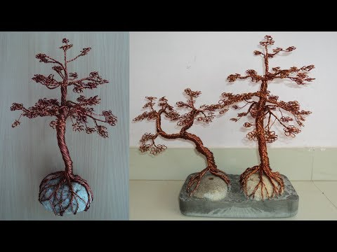 DIY-Art Attack | Copper Wire Bonsai tree.