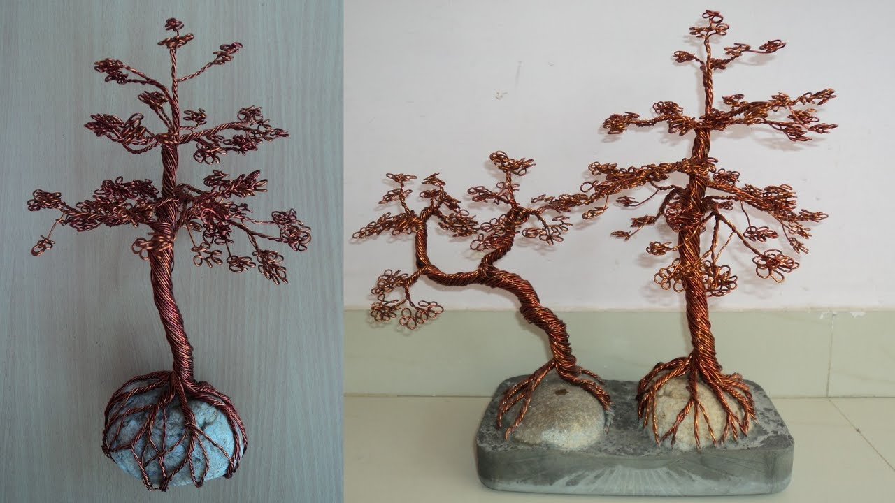 Diy Art Attack Copper Wire Bonsai Tree Youtube Wiring Video