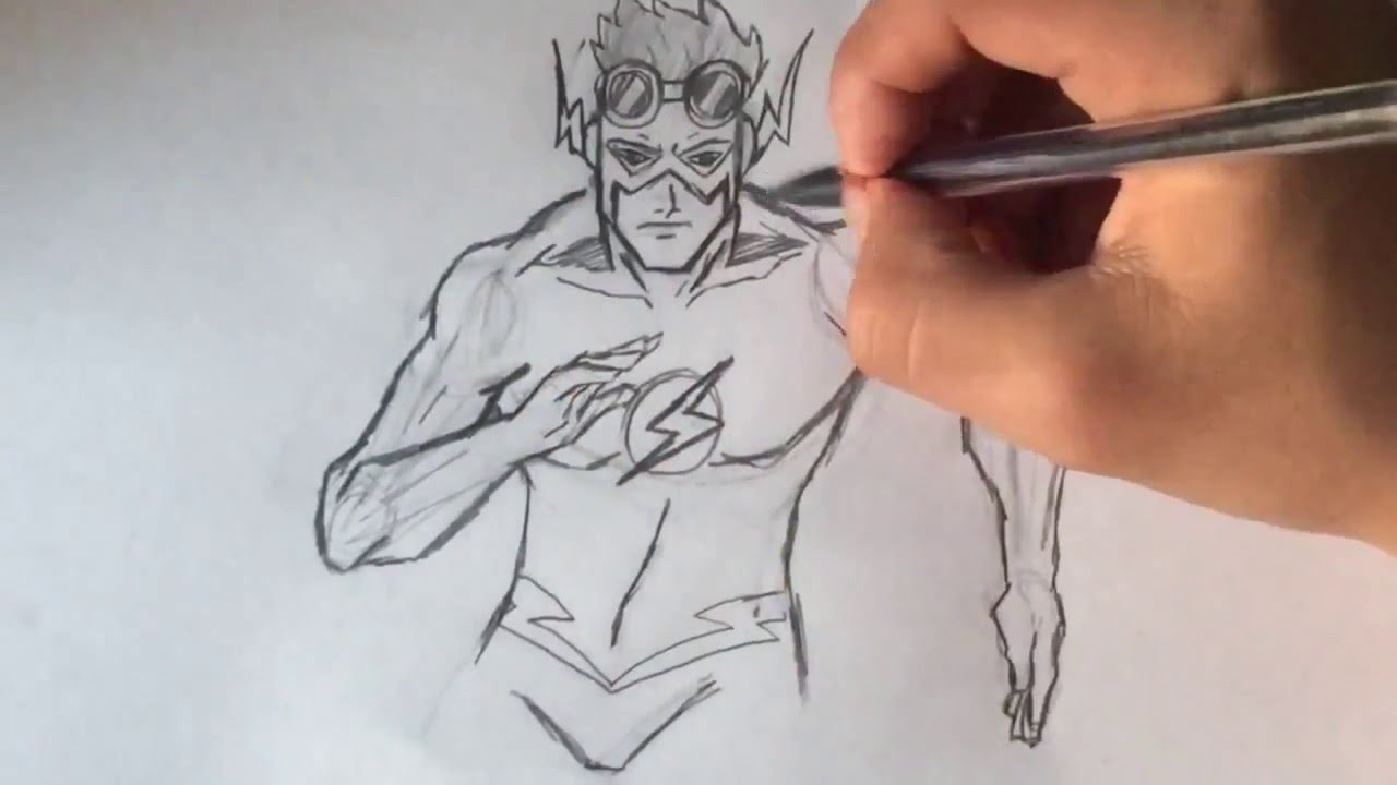 how to draw kid flash youtube - Picture Of Drawing For Kid