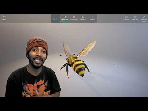 Paint 3D Windows 10 Mixed Reality - Walkthrough Fun