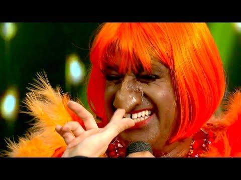 ¡Azúcar! Marcelo Iripino imitó a Celia Cruz y Guido casi le arrancó la nariz