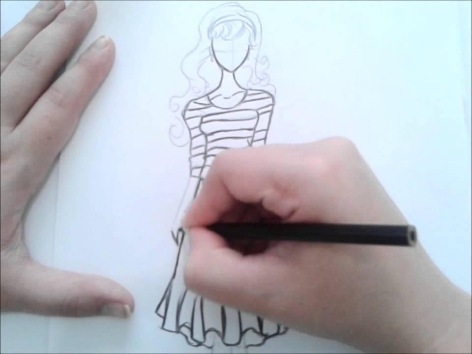 como desenhar croqui de moda youtube