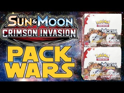 PACK WARS!!! Pokemon Crimson Invasion Double Booster Box Opening!