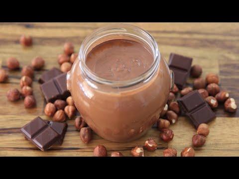 How To Make Homemade Nutella   Chocolate Hazelnut Spread Recipe