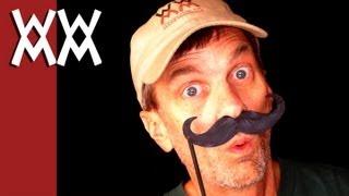 Halloween stick mustaches