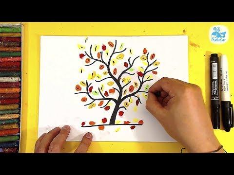 Как нарисовать осеннее дерево карандашом поэтапно