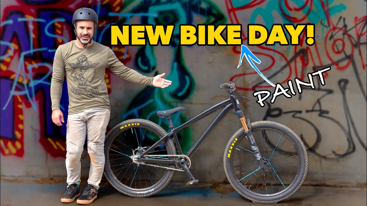 Download We painted my dirt jump bike and it looks sick!