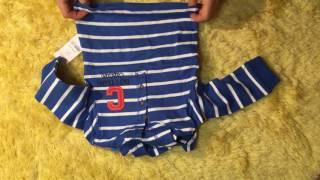 Обзор Carters костюм с полосатой кофтой мальчик