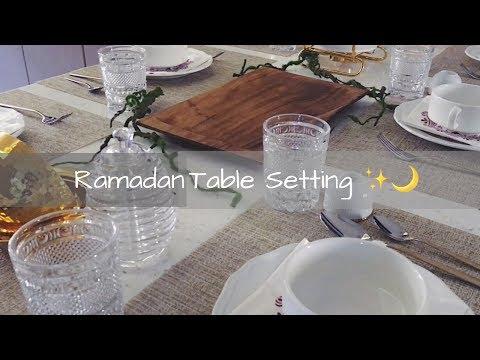 تسوقوا معاي: ترتيبات طاولة الطعام لشهر رمضان  🌙✨ Ramadan Table Setting